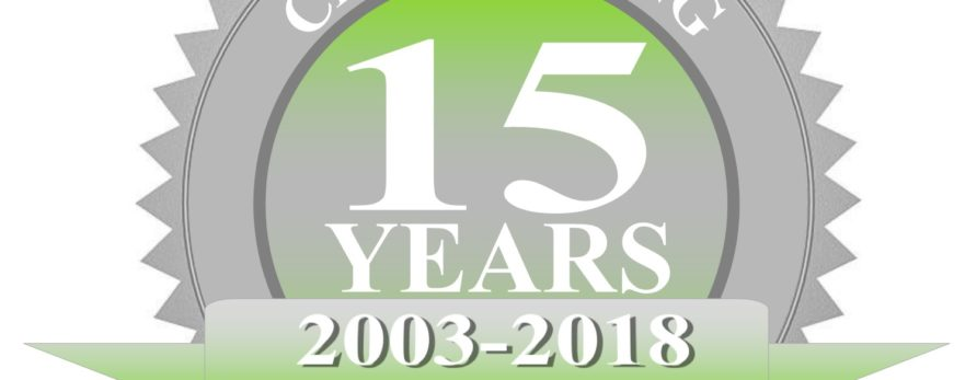 Celebrating a Milestone – 15 Years in Business